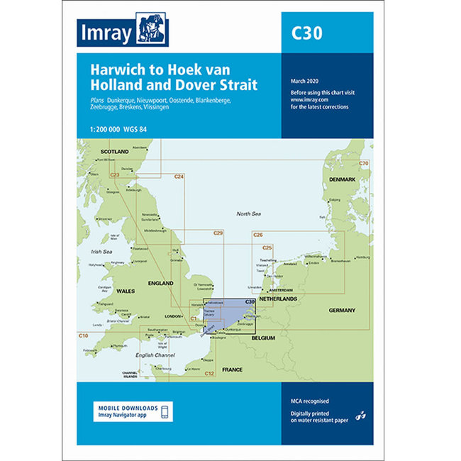 Imray C30 Harwich to Hoek van Holland and Dover Strait Charts
