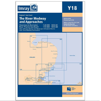 Imray Imray Y18 River Medway - Sheerness to Rochester with River Thames Charts