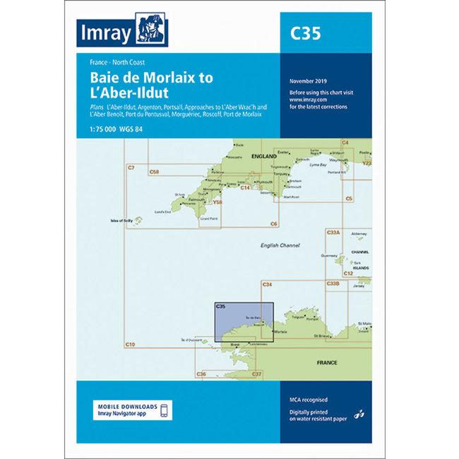 Imray C35 Baie de Morlaix to LAber-lldut Charts