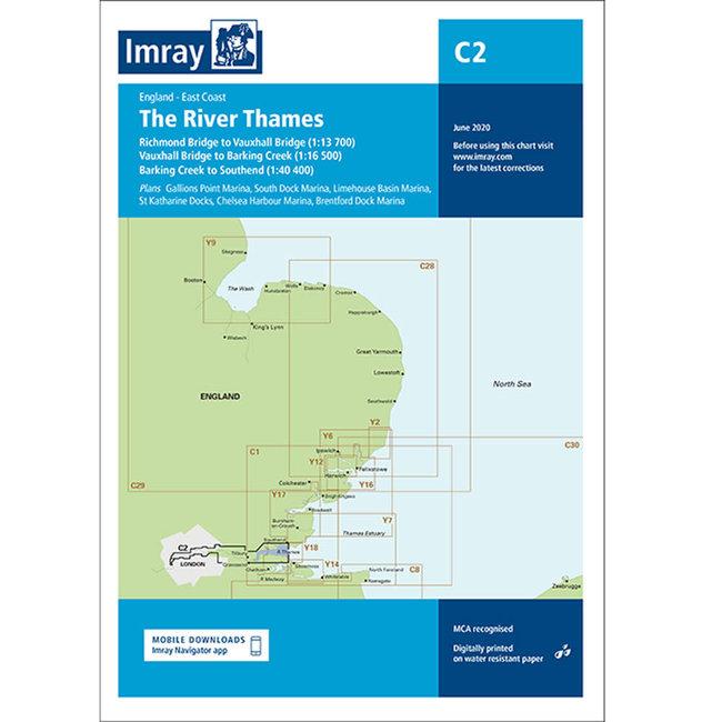 Imray C2 The River Thames - Teddington to Southend Charts