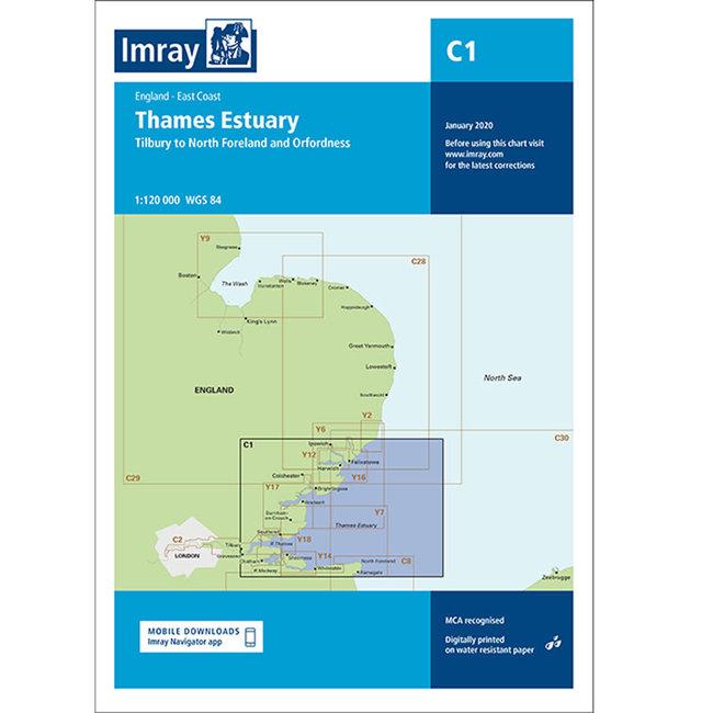Imray C1 Thames Estuary Charts