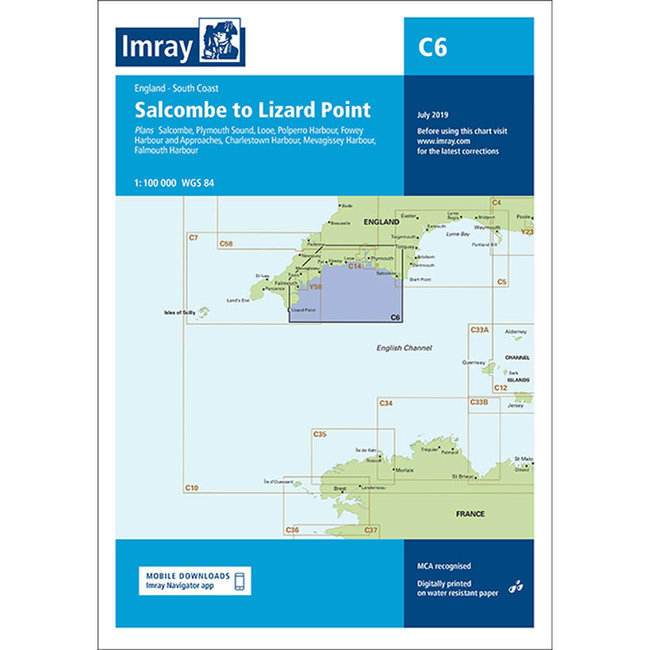 Imray C6 Salcombe To Lizard Point Charts