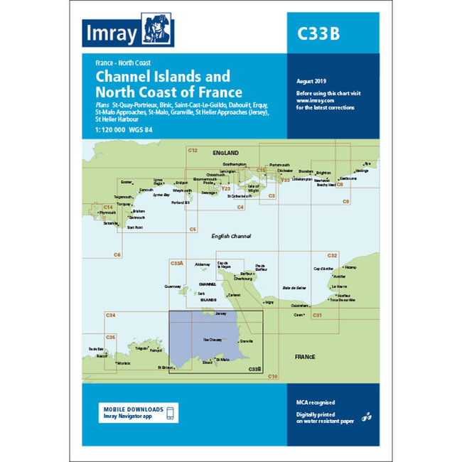 Imray C33B Channel Islands (South) and North Coast of France Charts
