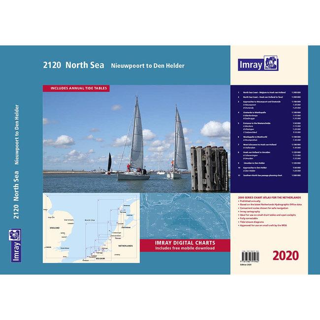 Imray 2120 North Sea - Nieuwpoort to Den Helder Chart Pack