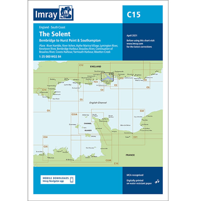 Imray C15 The Solent Charts