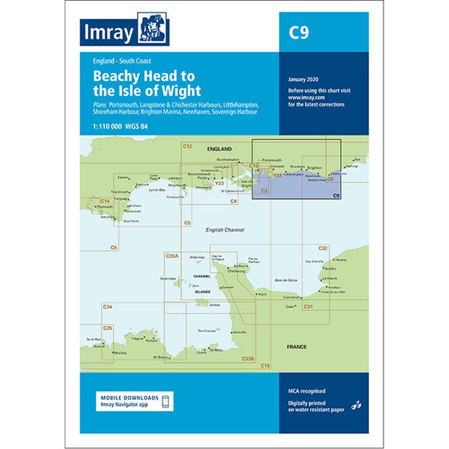 Imray C9 Beachy Head To Isle Of Wight Charts