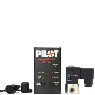 Pilot Pilot 12V Gas Monitoring System With Shut Off Solenoid