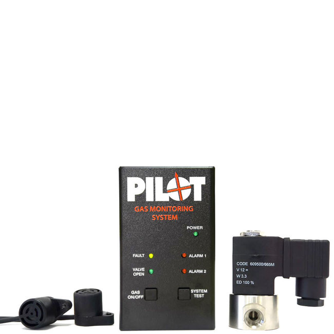 Pilot 12V Gas Monitoring System With Shut Off Solenoid