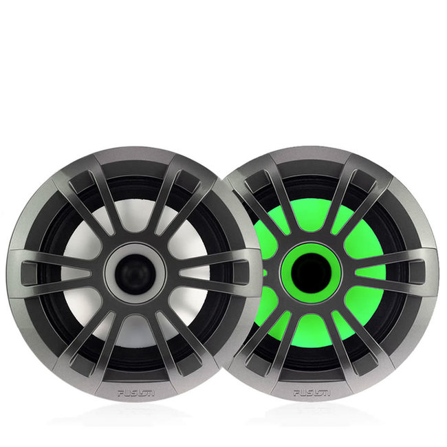 """Fusion Fusion EL Series 6.5"""" 80W Shallow Mount Marine Speakers with LEDs"""