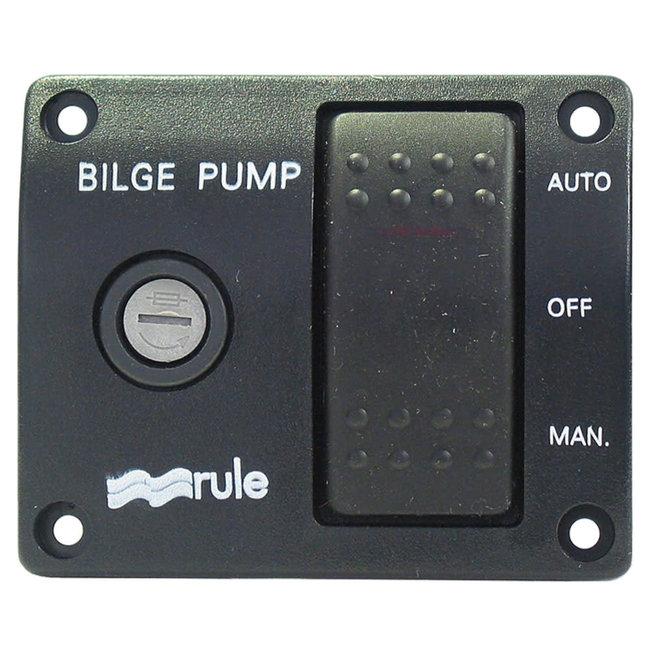 Rule Rule 43 3-Way Lit Bilge Pump Rocker Switch