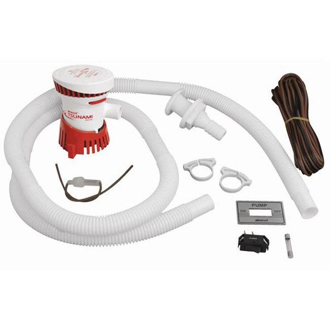 Attwood Tsunami T500 12V Bilge Pump w/ Installation Kit