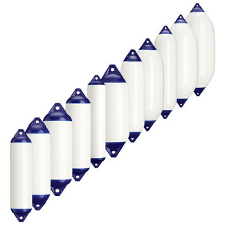 Polyform Polyform F Series Cylindrical Fenders White/Blue