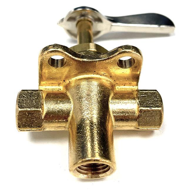 Brass Three Way Fuel Line Valve 10mm Hose
