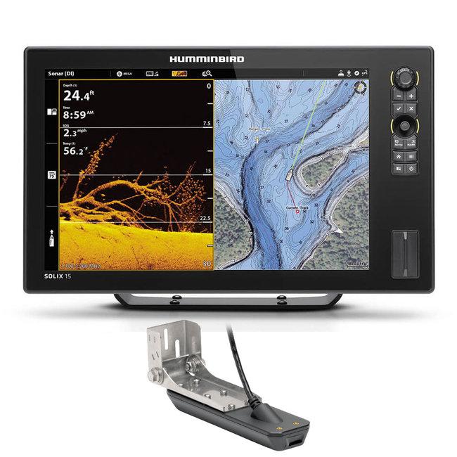 "Humminbird SOLIX G3 15.4"" MSI+ GPS Fishfinder with Transducer"