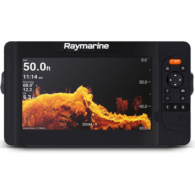 """Raymarine Element 9 HV 9"""" Chartplotter with CHIRP Sonar, HyperVision, WiFi & GPS"""