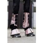 HKM Peesbeschermers metallic bont roze