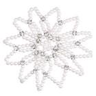 SD Design K-104 SD Haarnet parel crystal Wit
