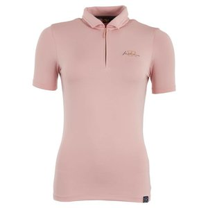 BR BR poloshirt Ariana dames Pink silver roze