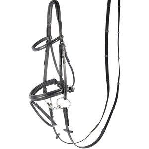 Harry's Horse 28002110  Hoofdstel Luxe, aansnoerneusriem  Zwart