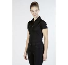 12759 Shirt polo glamour style rosegold Zwart