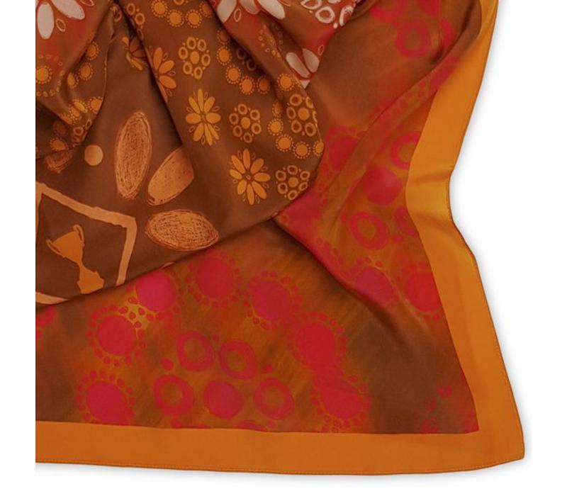 Dots Shawl Orange 128x128