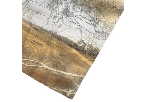 LITTLE TROPHY SILK VOILE HOMETOWN MAP SCARF 60x160