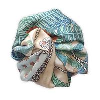 Fantasea carré shawl soft pink/mint green 90X90