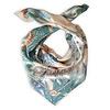 LITTLE TROPHY Fantasea carré shawl soft pink/mint green 90X90