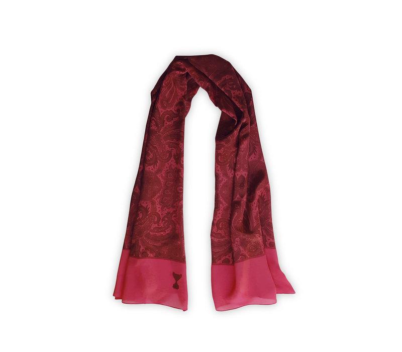 Klassieke Paisley Sjaal Roze 60x160