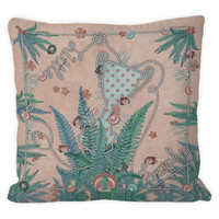 Fantasea cushion soft pink/mint green 60X60
