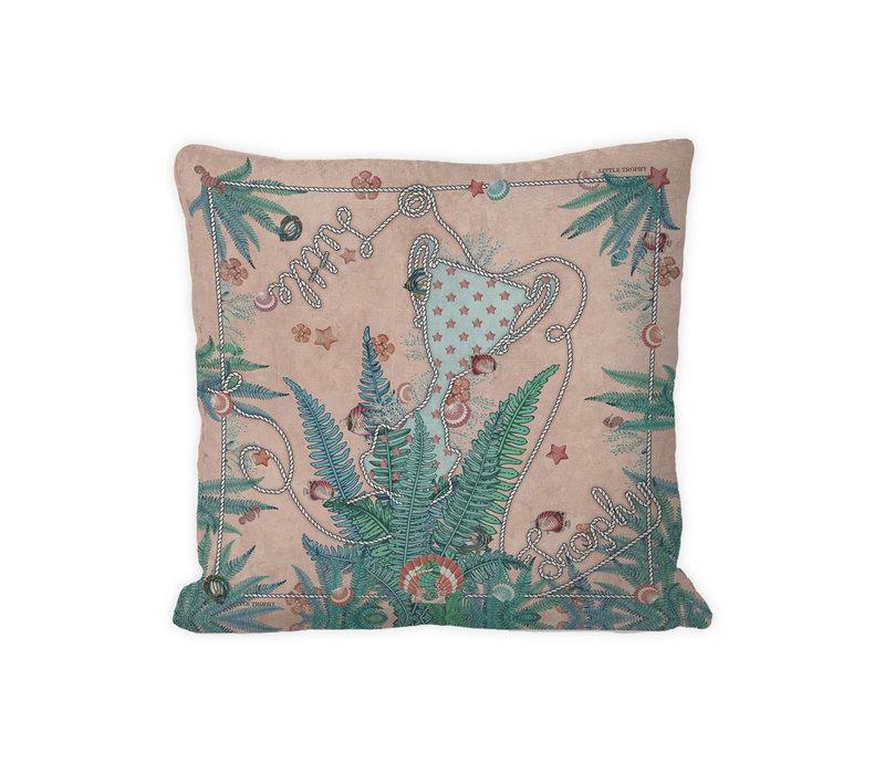 Fantasea kussen zacht roze/mint green 45x45