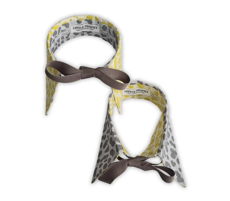 Kraagje Luipaard Geel/Grijs