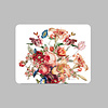 LITTLE TROPHY Painted Flowers Placemat 35x45 cm Wit Kunststof