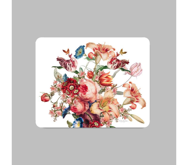 Painted Flowers Placemat 35x45 cm Wit Kunststof