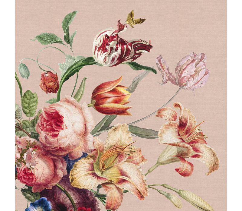 Painted Flowers Tafelkleed Rond Ø 160cm Roze