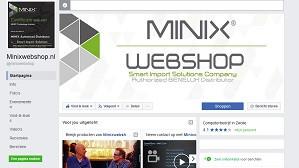 Like onze MINIXWEBSHOP Facebook pagina