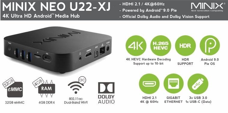 MINIX NEO U22-XJ Android 9 4GB/32GB TV box