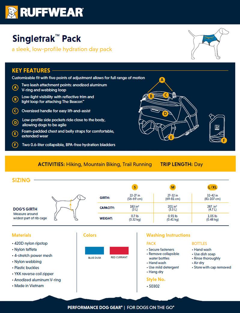 Ruffwear Singletrak™ Pack2