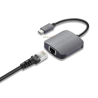 Pepper Jobs TCH-1  Plug-and-play USB-C to Gigabit Ethernet Adapter