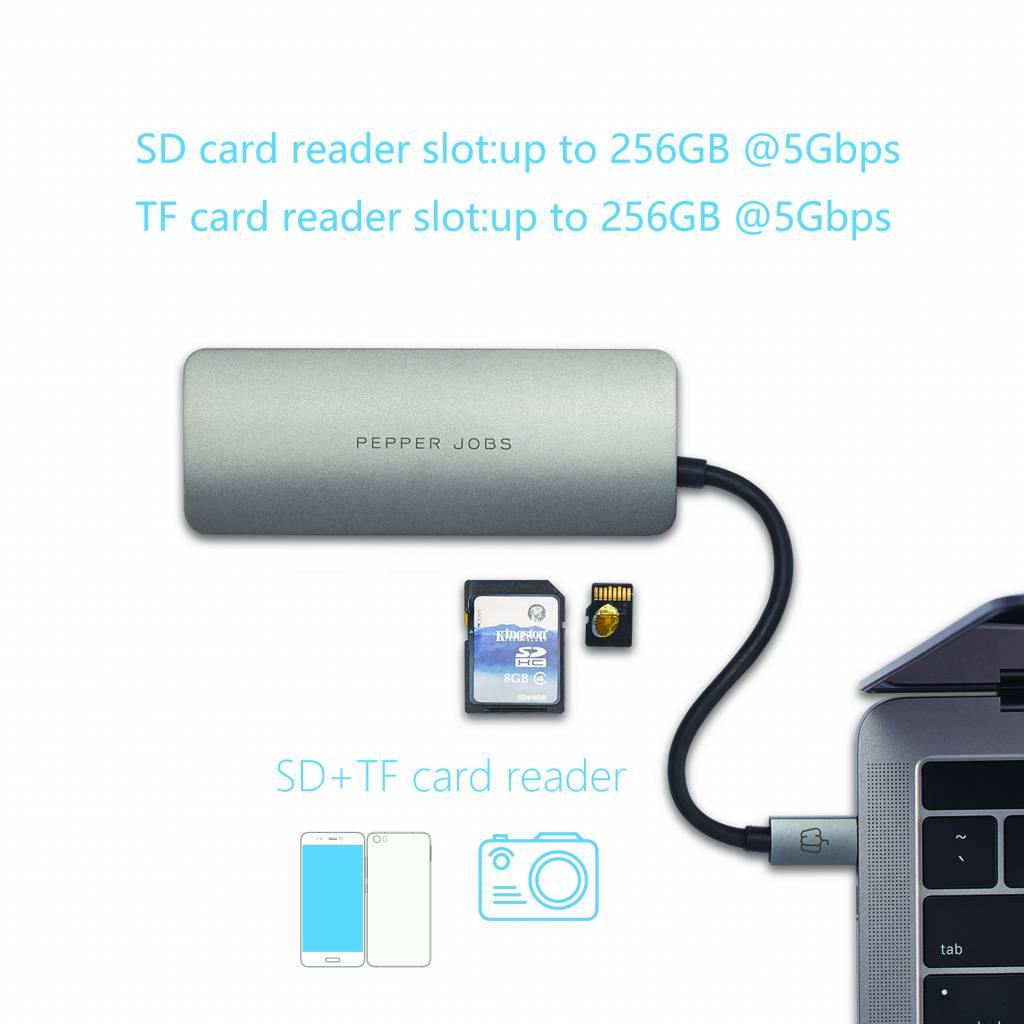 Pepper Jobs TCH-4 USB-C Digital AV Multiport Adapter - space grey