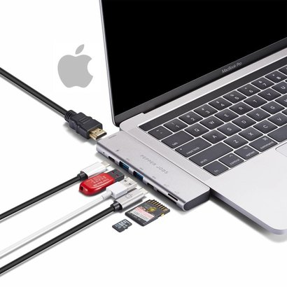 "Pepper Jobs TCH-MBP7 Dual USB-C Multipoort hub voor MacBook Pro 13""en 15"""