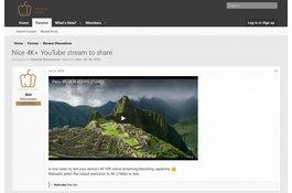 Nice 4K+ YouTube stream to share and test on Pepper Jobs GLK-UC2X Windows 10 mini pc