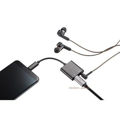 Pepper Jobs Adaptateur audio Pepper Jobs C2PDA USB-C à 3,5mm avec chargement.