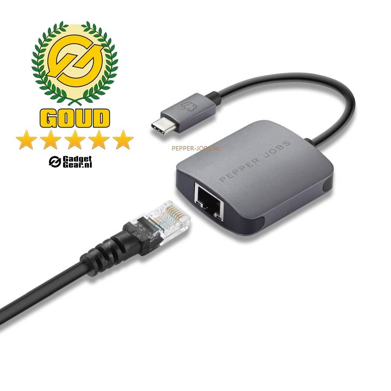 Pepper Jobs TCH-1 USB-C naar GIGABIT Ethernet