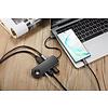 Pepper Jobs TCH-W5 est un hub USB-C 3.1 à USB 3.0 avec un pad de chargement sans fil pour Apple watch, une sortie vidéo 4K HDMI, 2x ports USB 3.0 et un câble jack audio combo de 3,5mm.