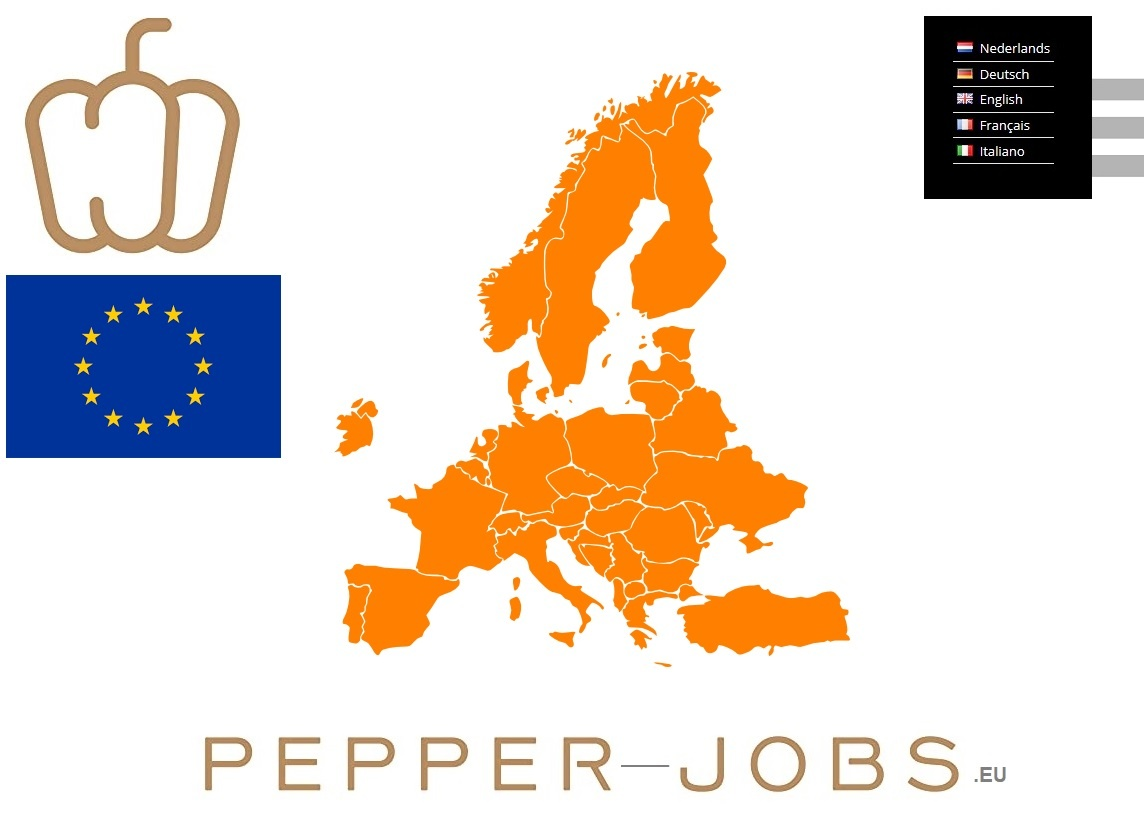 Nieuwe website url voor onze webshop. www.pepper-jobs.eu