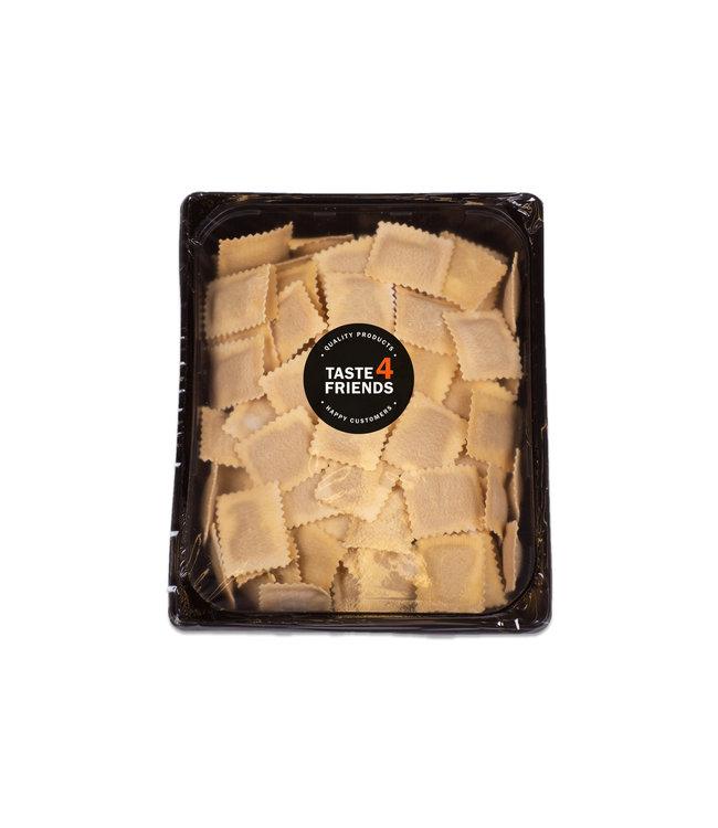 Huisgemaakte ravioli's - Tortelli grijze garnaal