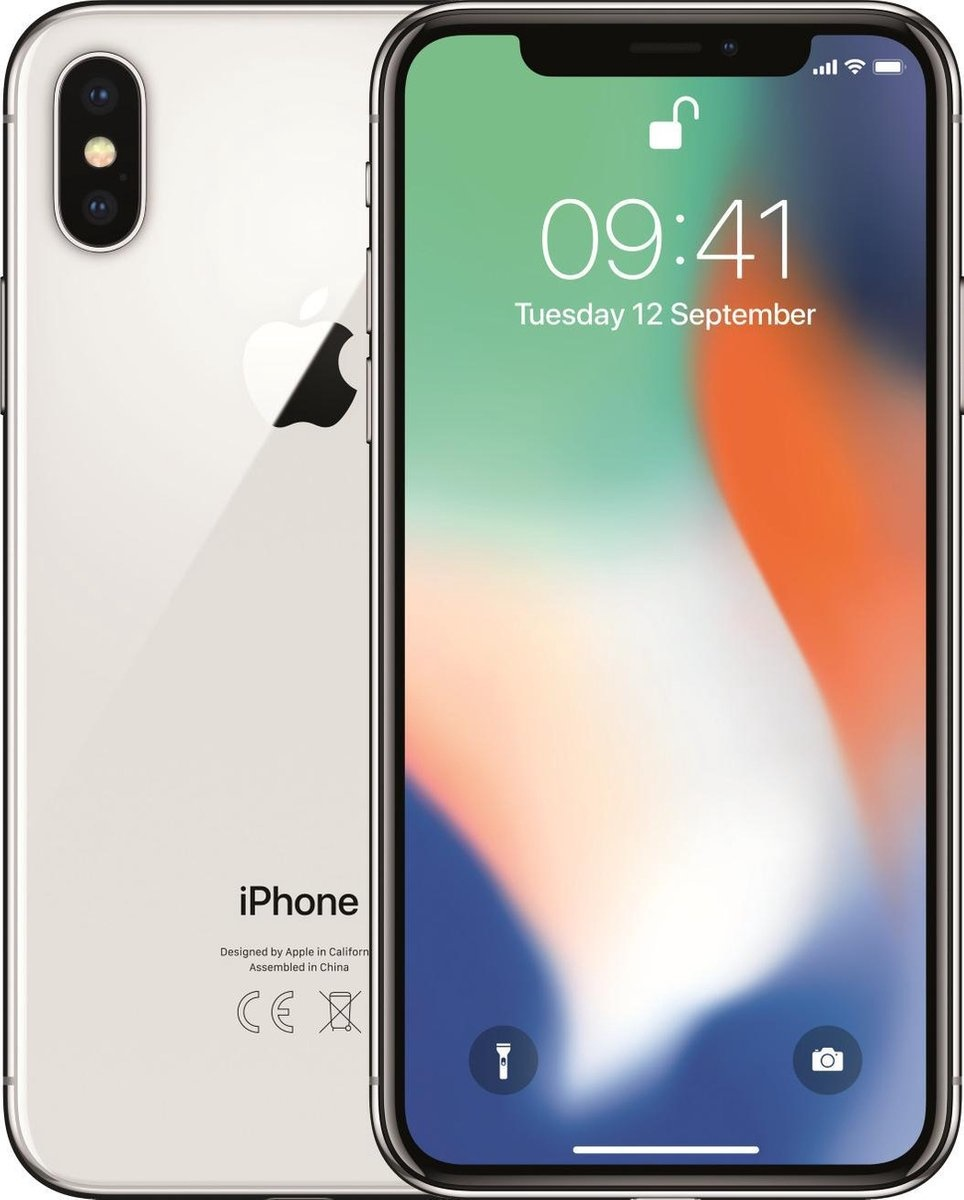 Apple Refurbished Apple iPhone X 256GB Zilver