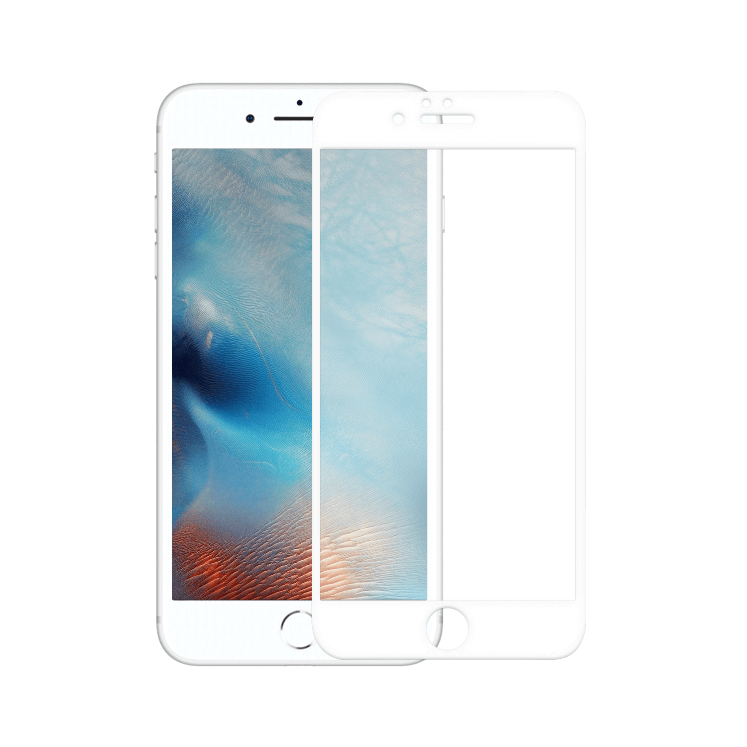 Apple Iphone 6 Plus/6S Plus Tempered Glass 10D Wit