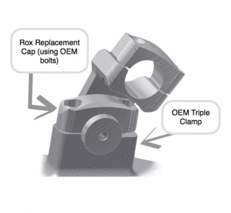 """ROX 2"""" Pivoting Risers for BMW R1200GS Watercooled (2013-current)"""